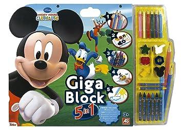 Mickey Mouse - Cuaderno Gigante 5 en 1 (Cefatoys 21801)