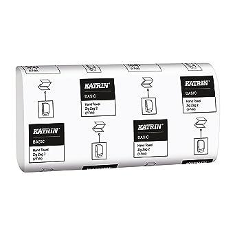 Katrin 76957 básica calidad intercalada Zig Zag toallas de mano, 2 capas, Smart embalaje