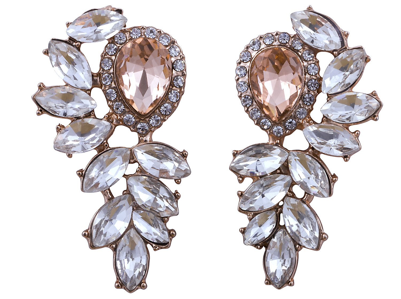 Vijiv Women's 1920s Gatsby Earrings Dangle Deco Jewelry for Party Wedding Prom Dresses