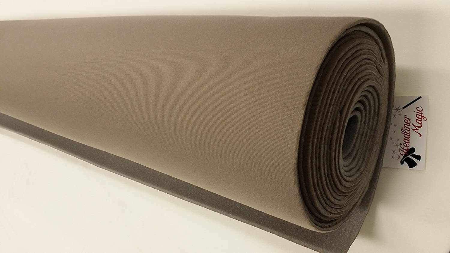 Med Natural Auto Headliner 3//16 Foam Backing Fabric Material 108 X 60