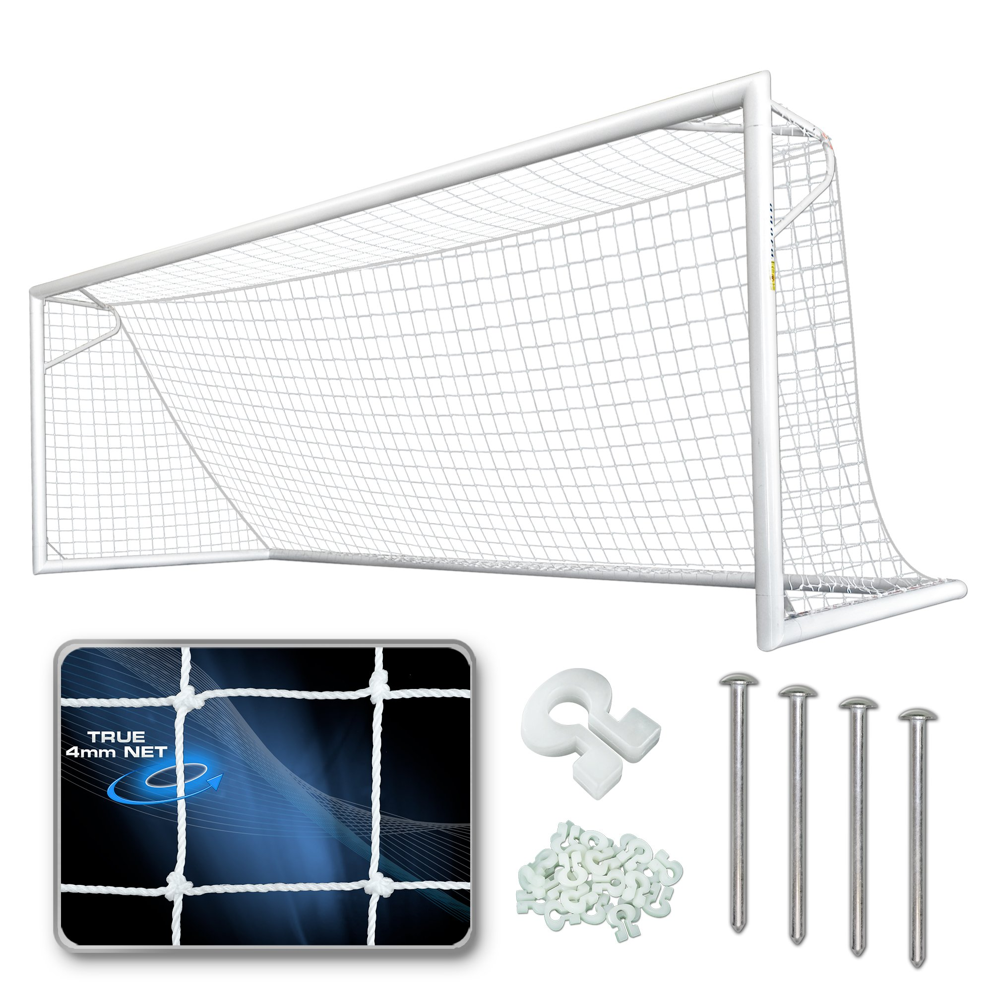 AGORA Premier Pro Soccer Goal - 6'6''x18'6'' (Each)