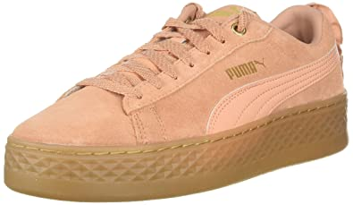 55dee50346a2 PUMA Women s Smash Platform Sneaker Dusty Coral Team Gold