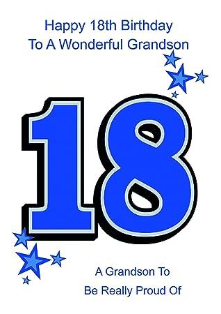 Grandson 18 Birthday Card