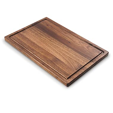 Walnut Cutting Board by Mevell - Premium Large Wood Cutting Boards for Kitchen, Great for Charcuterie, Cheese,Chopping and Carving -Reversible with Juice Groove, Big American Hardwood Block 17x11