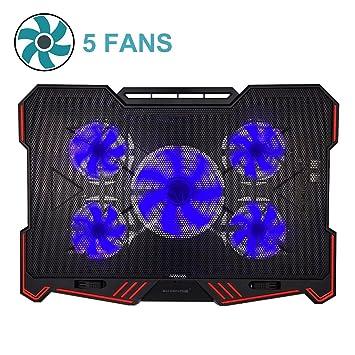 Almohadilla de refrigeración para ordenador portátil BUJIAN, ultraligera y ajustable, con 2 ventiladores de alimentación de EE. UU.