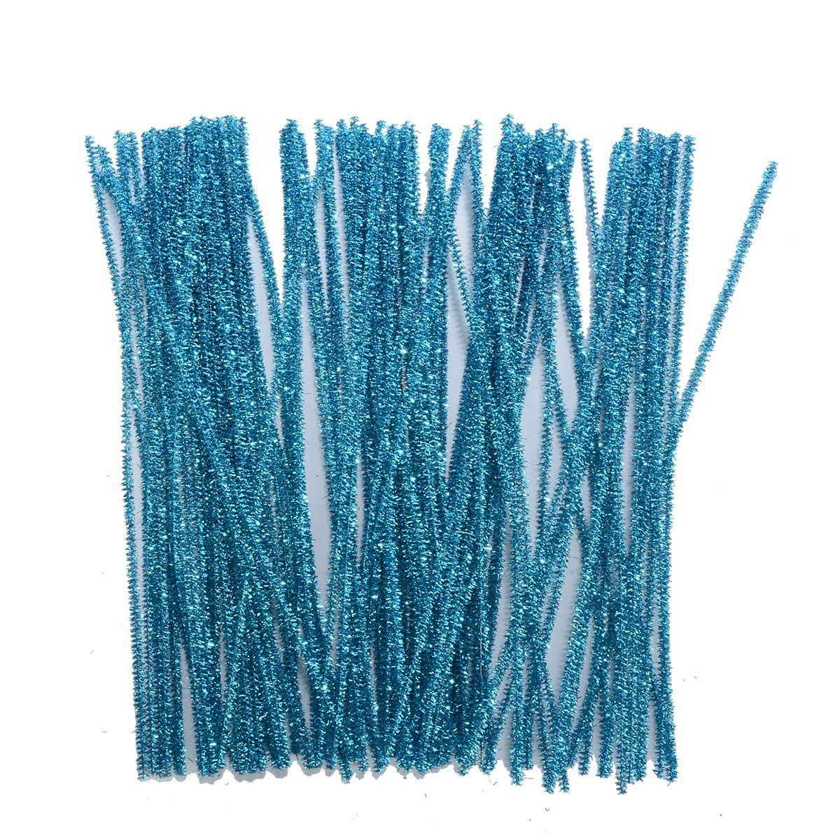 Saim 100 PCS 12 Inch Glitter Sparkle Creative Arts Stems Pipe Cleaners for DIY Craft