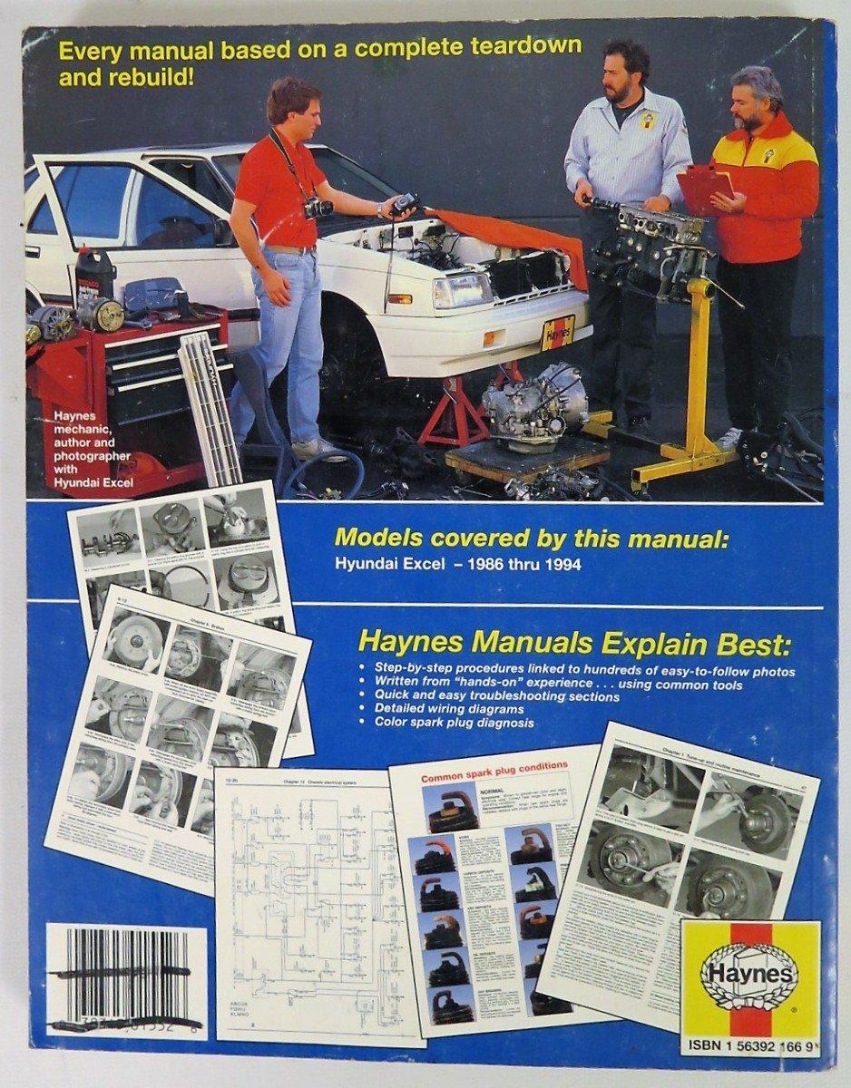 amazon com: 1986-1994 hyundai excel automotive repair manual: posters &  prints