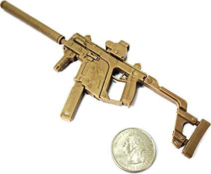 """1//6 Scale KRISS Vector Submachine Gun Model Weapon For 12/"""" Soldier Action Figure"""