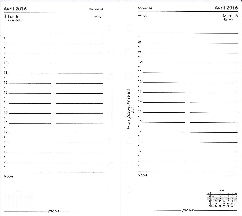 Filofax 6843615 - Recambio de agenda, color blanco: Amazon ...