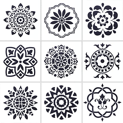 13 Pack Mandala Dot Painting Templates Stencils for DIY