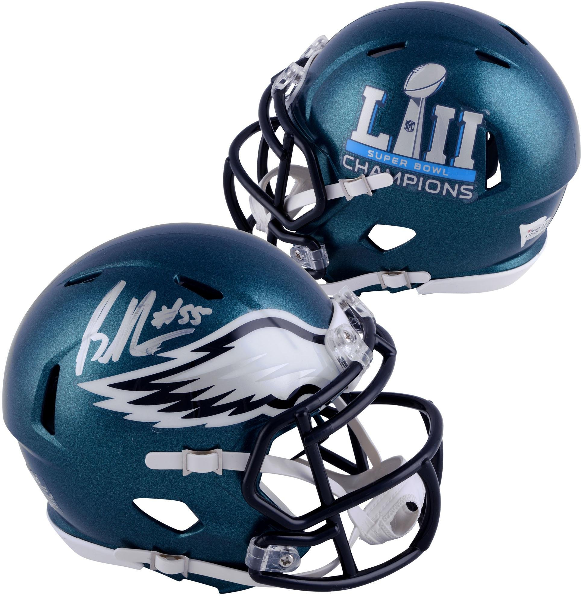 Brandon Graham Philadelphia Eagles Autographed Riddell Speed Super Bowl LII Champions Mini Helmet Fanatics Authentic Certified