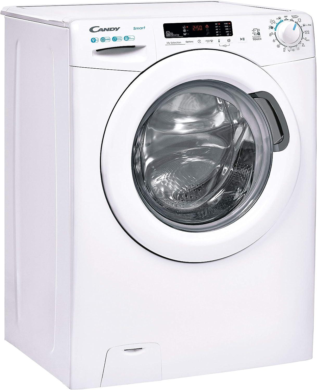 Candy Smart CS 1492DE-S Machine /à laver 9 kg 5 programmes rapides 61dba 52 cm prof 1400 tr//min classe A+++ NFC blanc