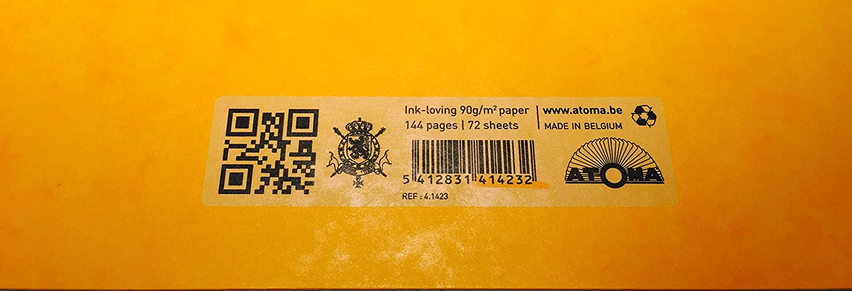 Cahier Atoma cartonn/é A4 21 x 29,7cm Quadrill/é