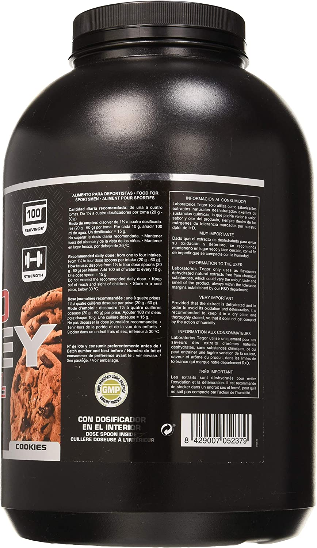 Tegor Sport Proteína Iso Whey en Polvo Cookies - 3000 gr, Negro