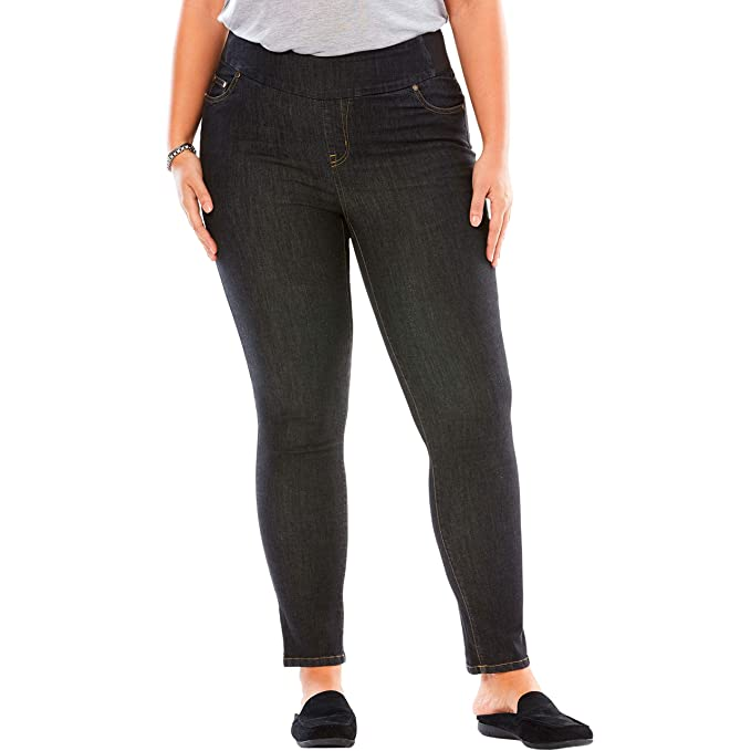 23fee74e2a666 Woman Within Plus Size Tall Smooth Waist Skinny Jean at Amazon ...