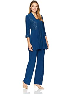 04ac3dd46ef Amazon.com  R M Richards Women s Plus Size Sheer Panel Pant Set ...