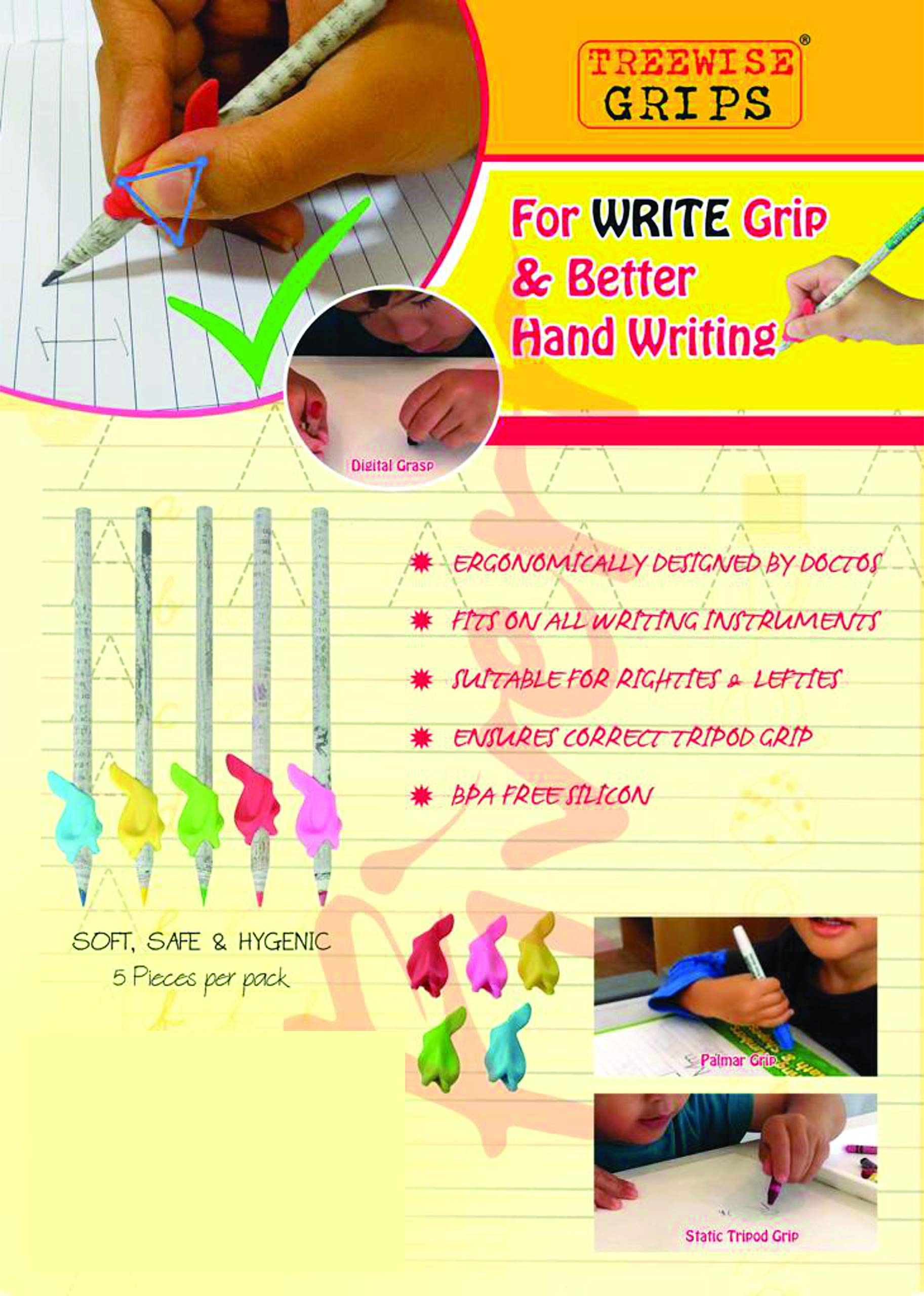WOOD FREE PLANTABLE PENCIL HB#2 EXTRA DARK 36 Pencils + 5 Silicon Gripers FREE l 100% Recycled Newspapers l 100% Eco Friendly l 5 Assorted Seeds- TOMATO   FENUGREEK   CORIANDER   CHILI   MUSTRAD by SAVE GREEN WORLD (Image #2)