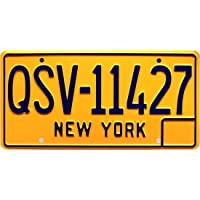 Entourage   QSV-11427   Metal Stamped License Plate