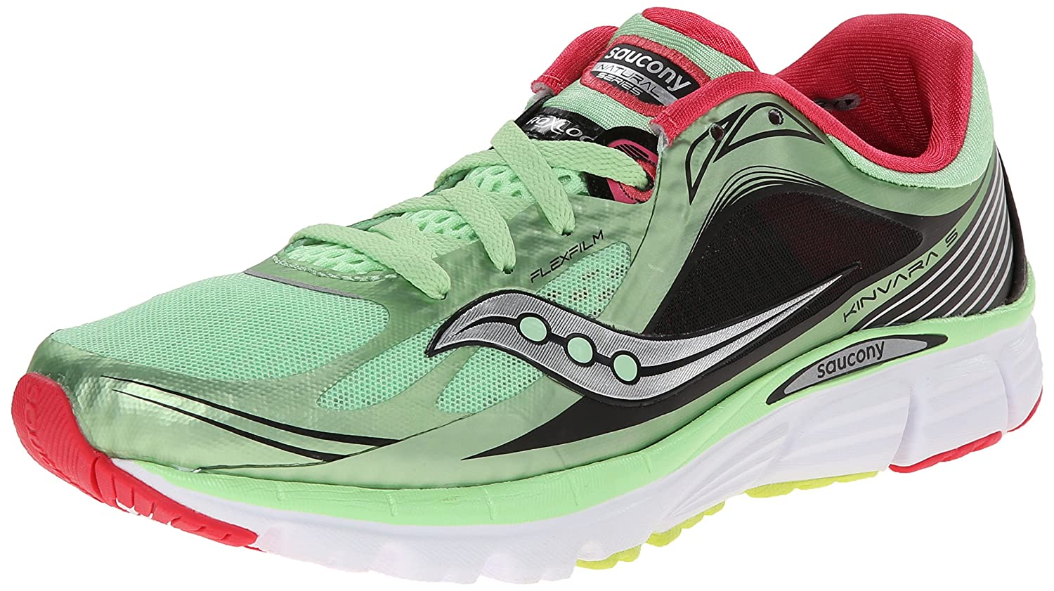 Saucony Women's Kinvara 5 Running Shoe B00KPU0H3K 10.5 B(M) US|Mint/Cherry