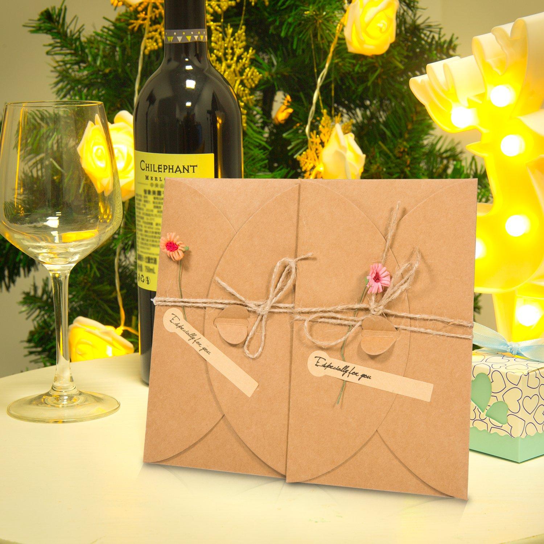 Compleanno Natale Meersee 13pcs Biglietti di Auguri Vuoti con Buste Buste Cartoncini Augurali con Busta per Diverse Occasioni Auguri di Matrimonio Biglietto di Auguri Inviti Lettera