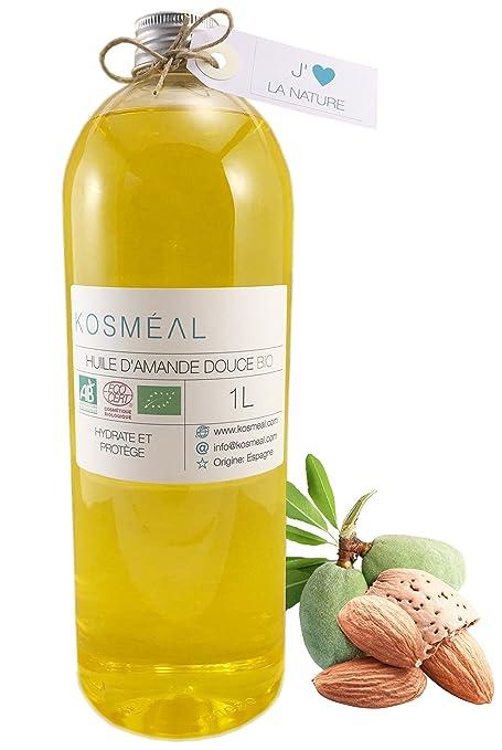 Aceite de Almendra Dulce BIO – certificado agricultura biológico (AB) y ecocert- 1L