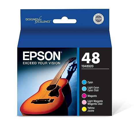 Amazon.com: Epson T048 48, cartucho para impresora de chorro ...