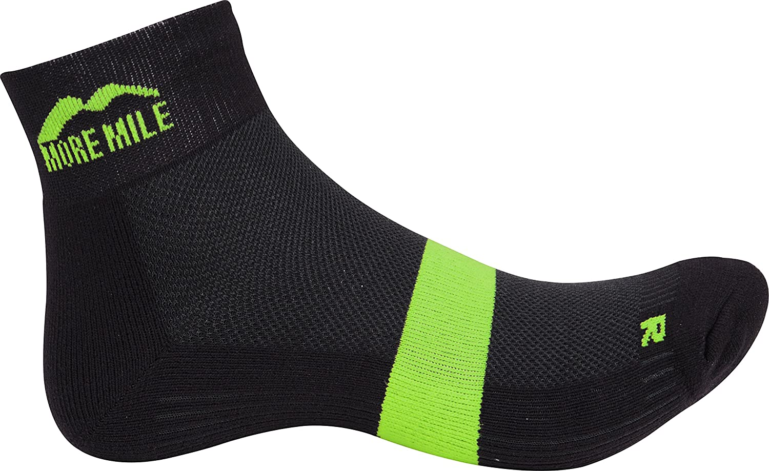 More Mile London Running Socks Mens Womens Cushioned Support Sports Sock/'s Grey
