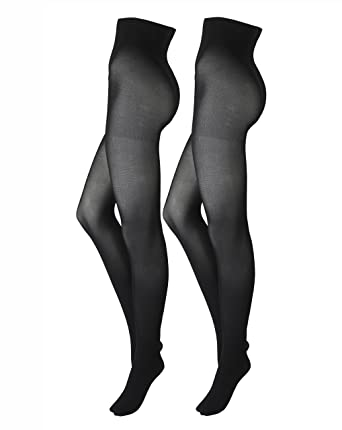 e7ffdb54d16fc Simply Be Womens 2 Pack Opaque 40 Denier Tights Black, S(12/14): Amazon.co. uk: Clothing