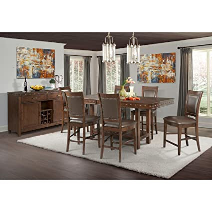 Beau Picket House Furnishings Pruitt 8 Piece Counter Height Dining Set