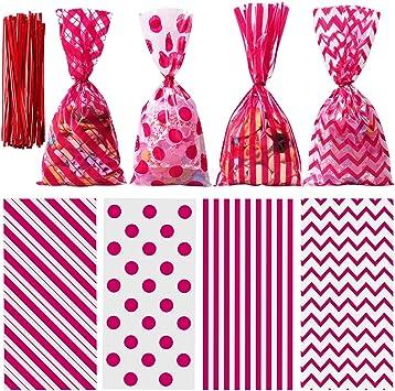 pink cellophane bags