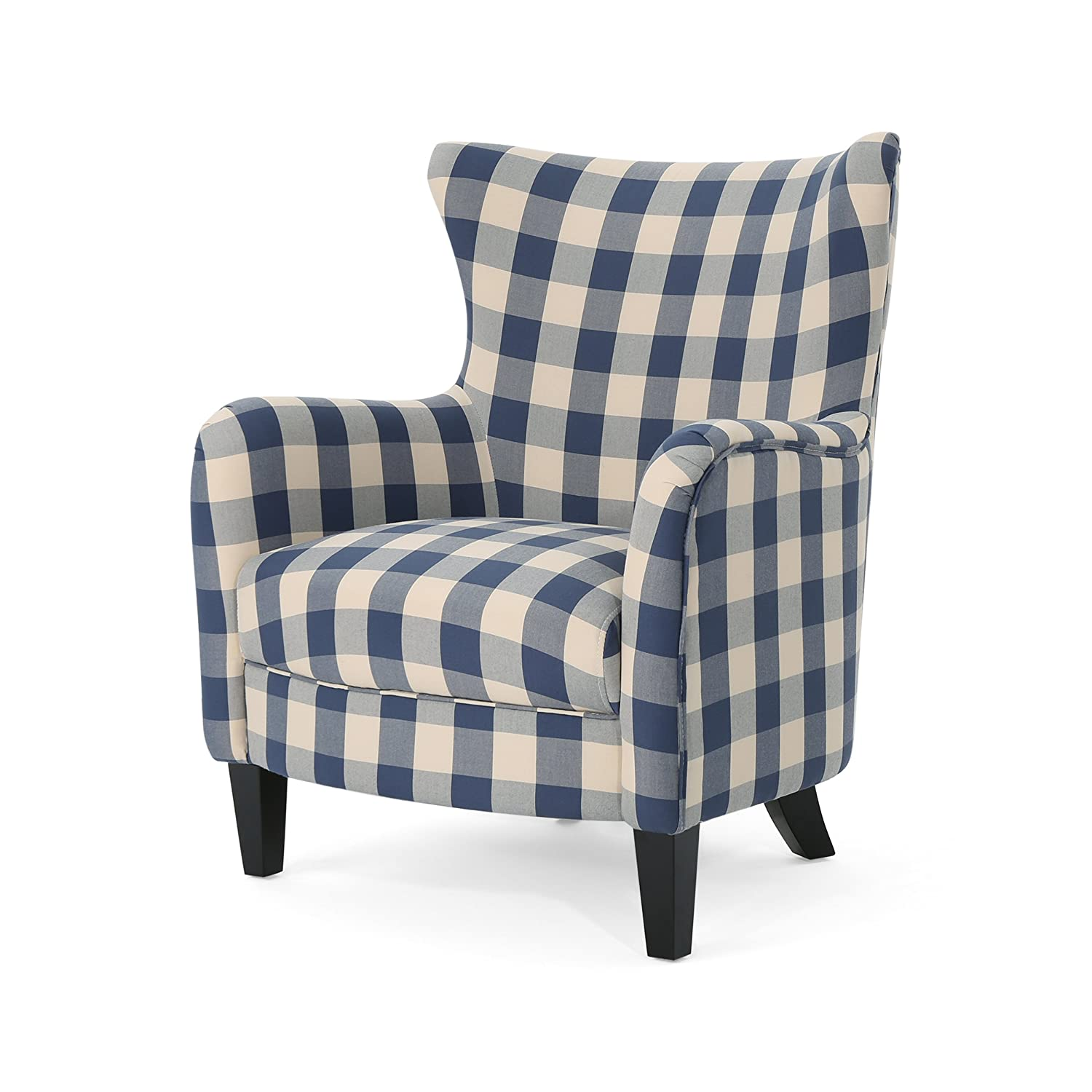 Christopher Knight Home 306114 Oliver Farmhouse Armchair, Checkerboard