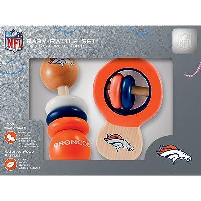 NFL Denver Broncos Baby Rattle Set - 2 Pack: Sports & Outdoors