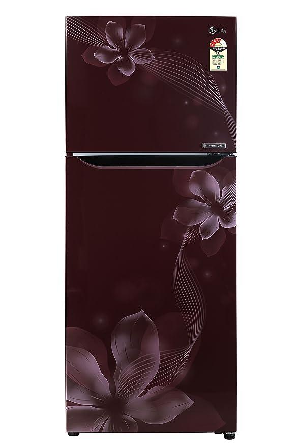 LG 260 L 3 Star Frost Free Double Door Refrigerator GL C292SSOU.ASOZEBN, Scarlet Orchid, Inverter Compressor  Refrigerators