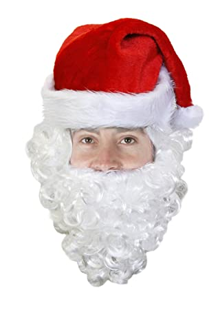 0805cf76c1416 SANTA HAT WITH BEARD PERFECT FOR FATHER CHRISTMAS FANCY DRESS XMAS ACCESSORY