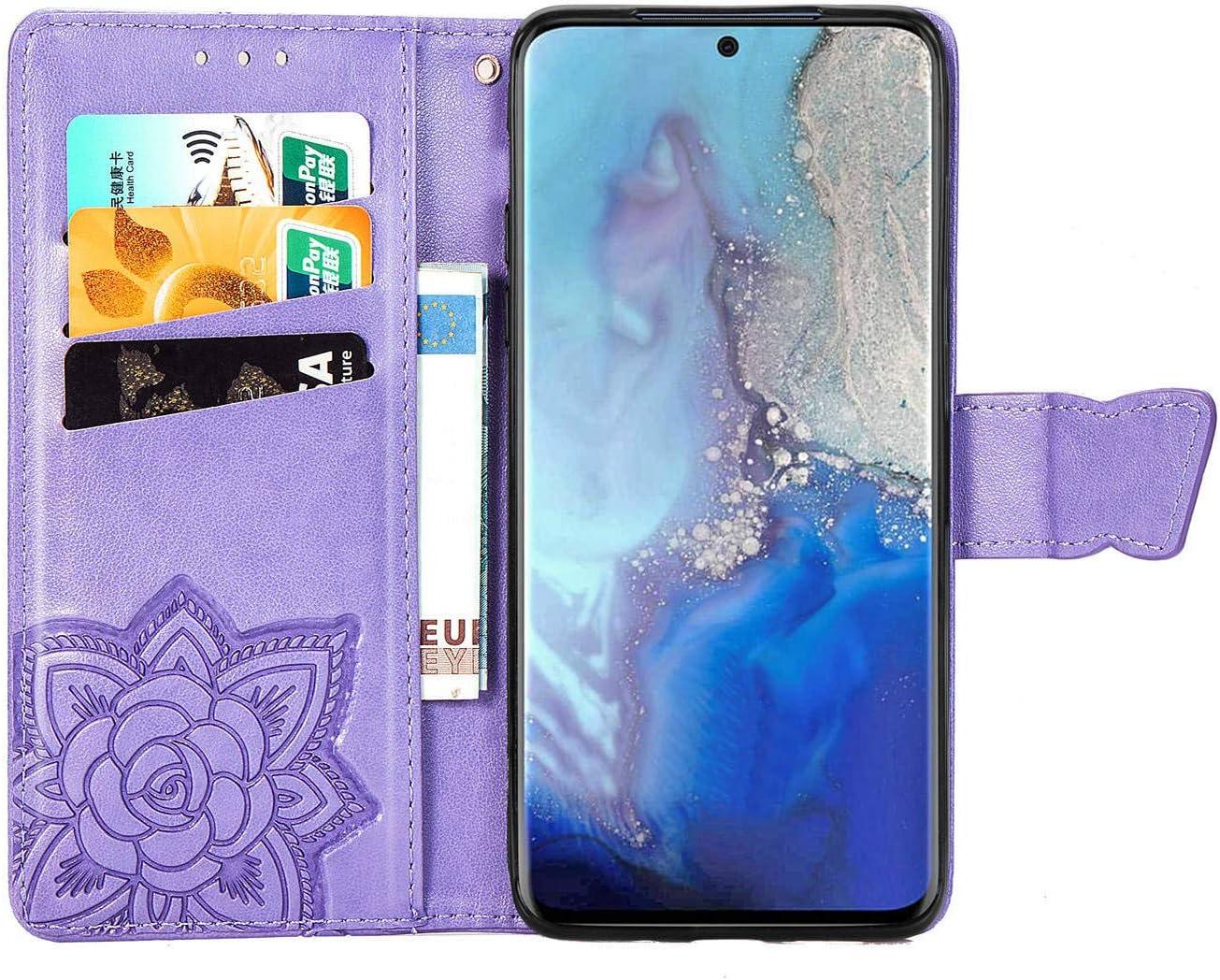 Thoankj Huawei Y6P H/ülle PU Leder Flip Notebook Slim Fit Wallet Phone Case S/ü/ße Schmetterling mit Kickstand Soft TPU Gel Bumper Folio Sto/ßfest Schutzh/ülle f/ür Huawei Y6P