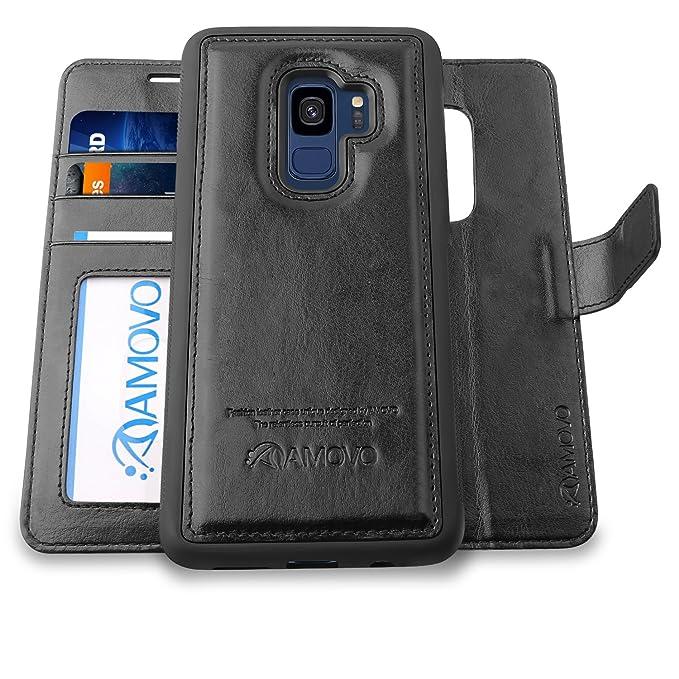50cf44ac9fb Amazon.com  Amovo Case for Galaxy S9  2 in 1