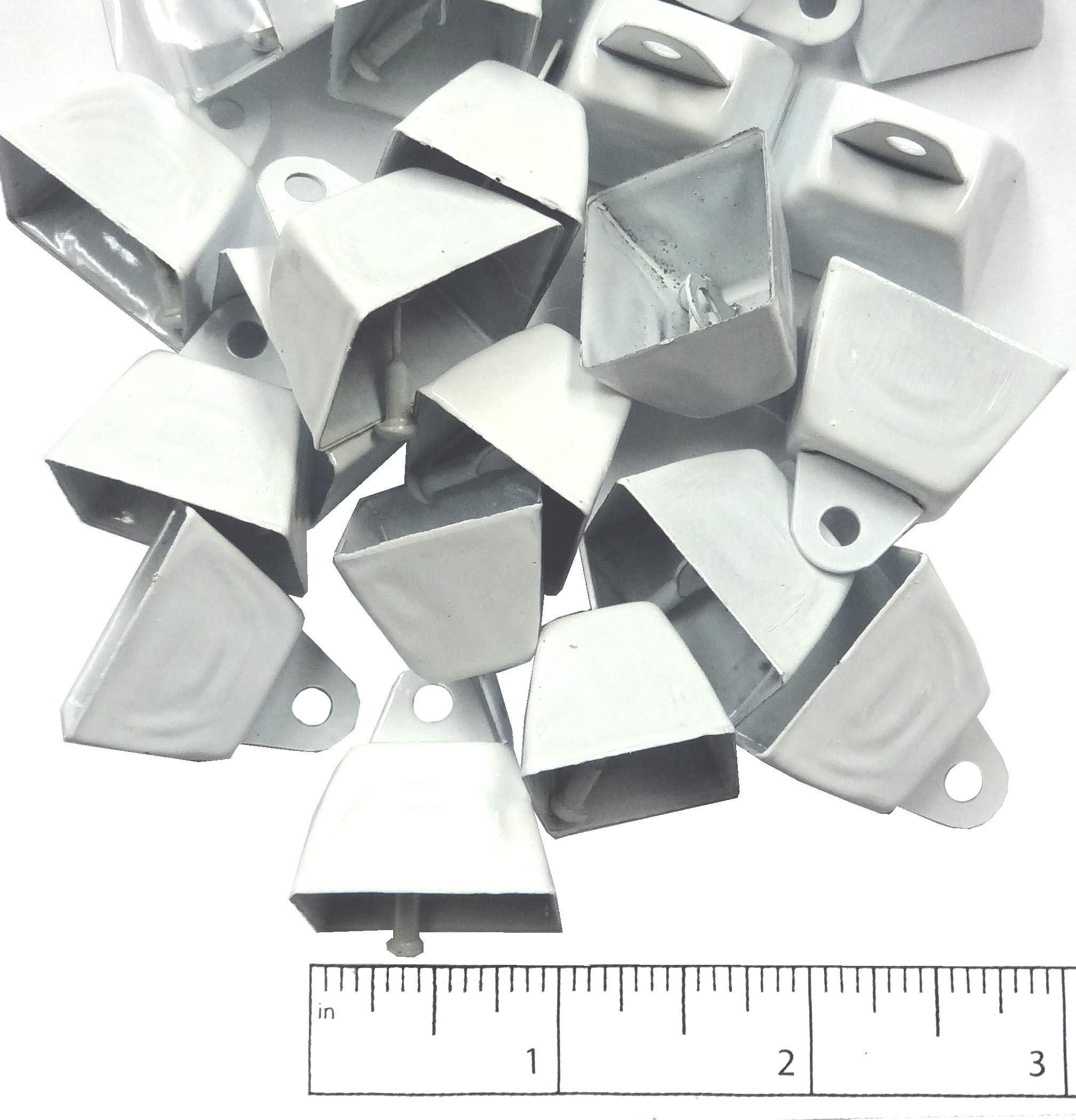 1'' White Cowbell 36pc