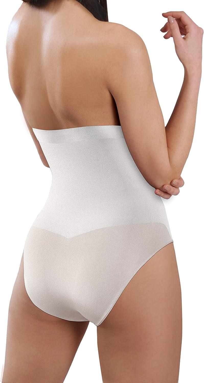 Sesto Senso Women High Waist Seamless Shapewear 1-3 Pack Tummy Control Knickers