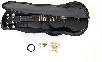 Tenson F502822 - Tenson Ukelele Soprano Set negro Miguel Almería con la bolsa: Amazon.es: Instrumentos musicales
