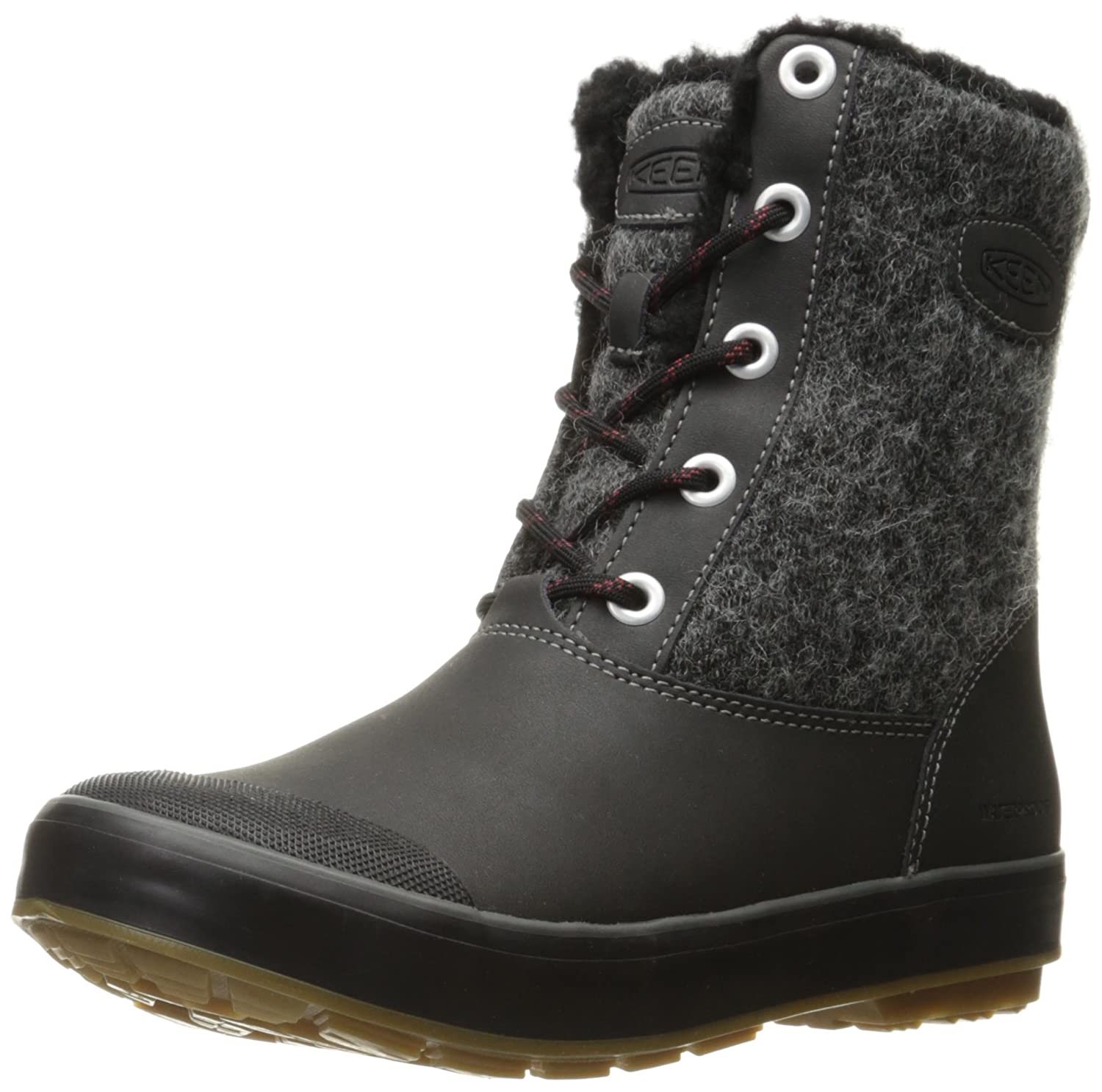 KEEN Women's Elsa Waterproof Winter Boot B01MSND19K 9.5 B(M) US|Black Wool