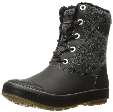 4c3d5ebd61a Amazon.com | Keen Women's elsa Boot wp-w Snow, Black Wool 9.5 M US ...