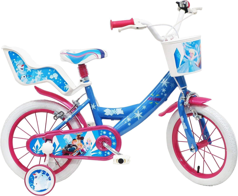 Disney Frozen Ice Look, Bicicleta para niña, Azul y Blanco, Fucsia ...