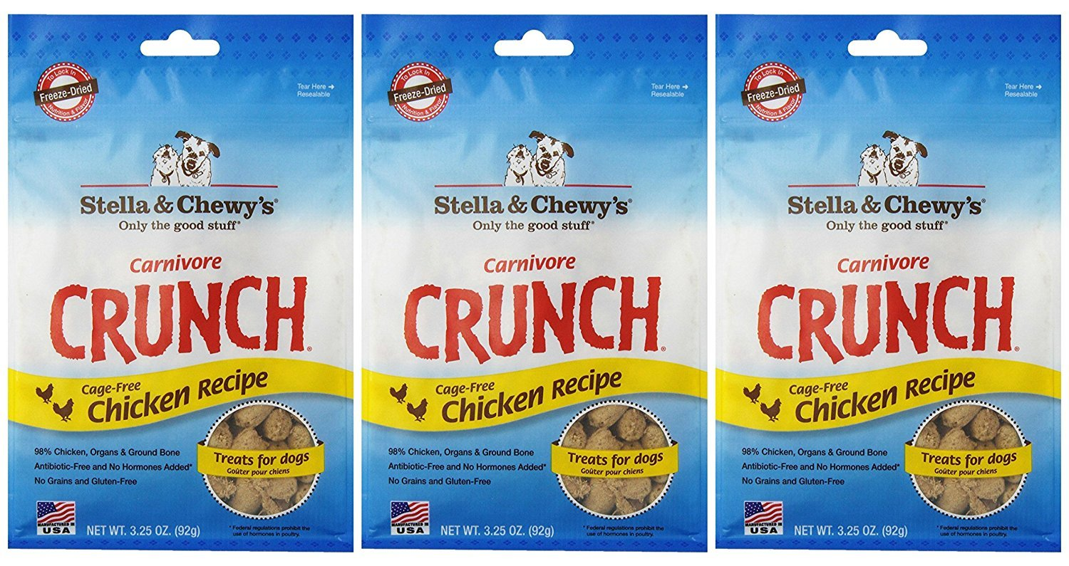 Stella & Chewy's Carnivore Crunch Chicken Freeze-Dried Dog Treats (Pack of 3)