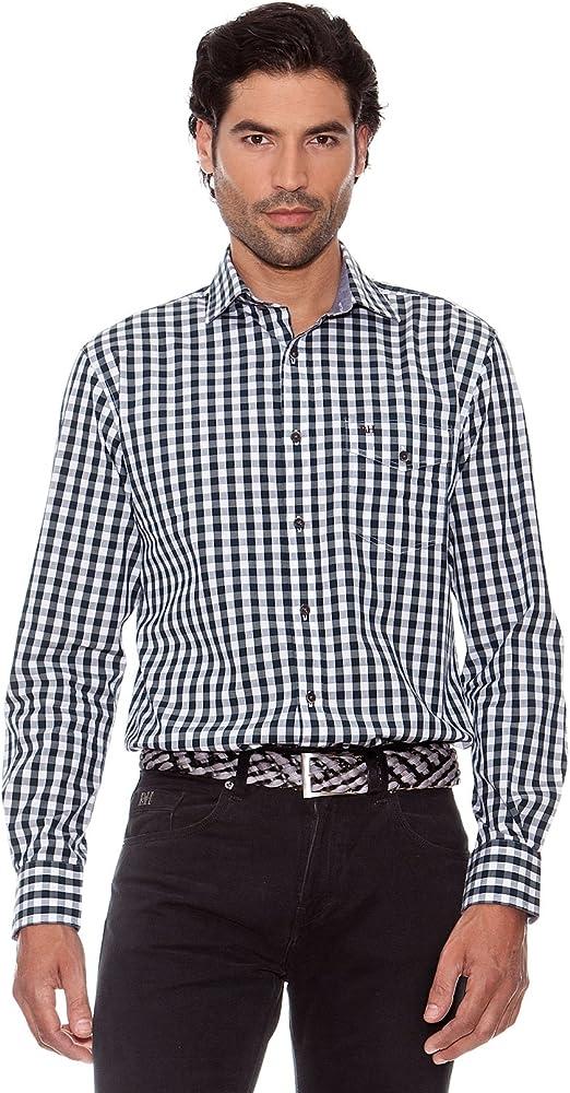 Pedro del Hierro Camisa Cuadros Vichy Verde Oscuro XL: Amazon.es: Ropa y accesorios