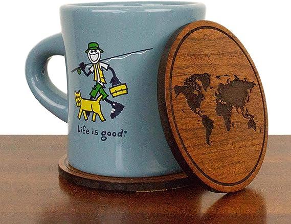 Set of 4 LazerEdge NCAA Wooden Coasters