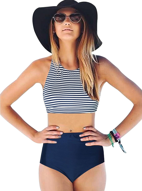 High Waisted Bikini for Women,2 Piece Swimsuits High Waisted Bikini Set Bathing Suit ZITY ZLSwim0017-ZITY-CA
