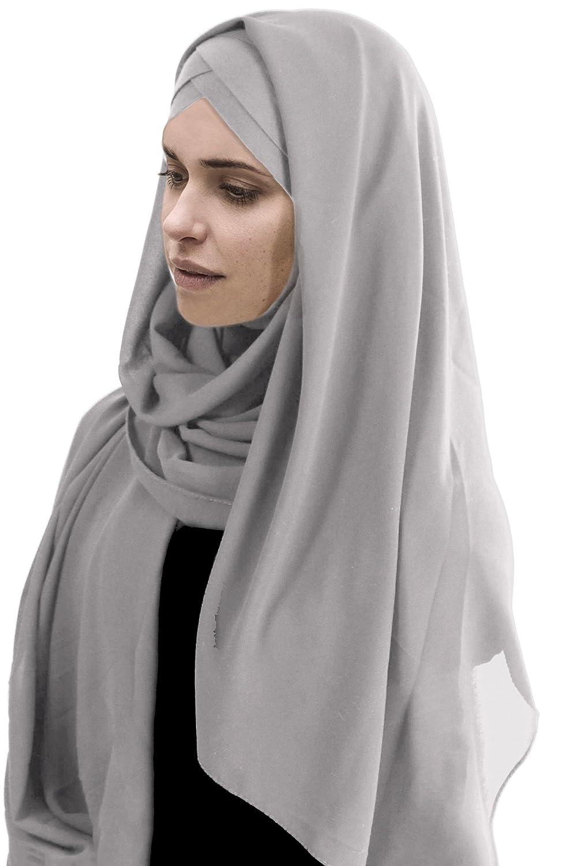 Hijab Foulard à Enfiler avec bonnet intégré pour femme musulmane voilée  châle islamique voile enfilable 10066fdc74c