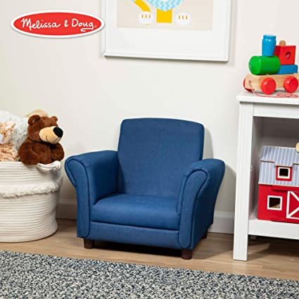 Astonishing Melissa Doug Childs Armchair Denim Childrens Furniture Sturdy Construction Multiple Colors 18 3 H X 17 5 W X 23 L Ibusinesslaw Wood Chair Design Ideas Ibusinesslaworg