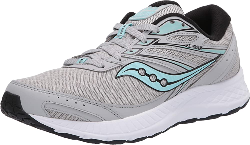 Saucony Cohesion 13 Grey/Dark Brown, Zapatillas de Atletismo para ...
