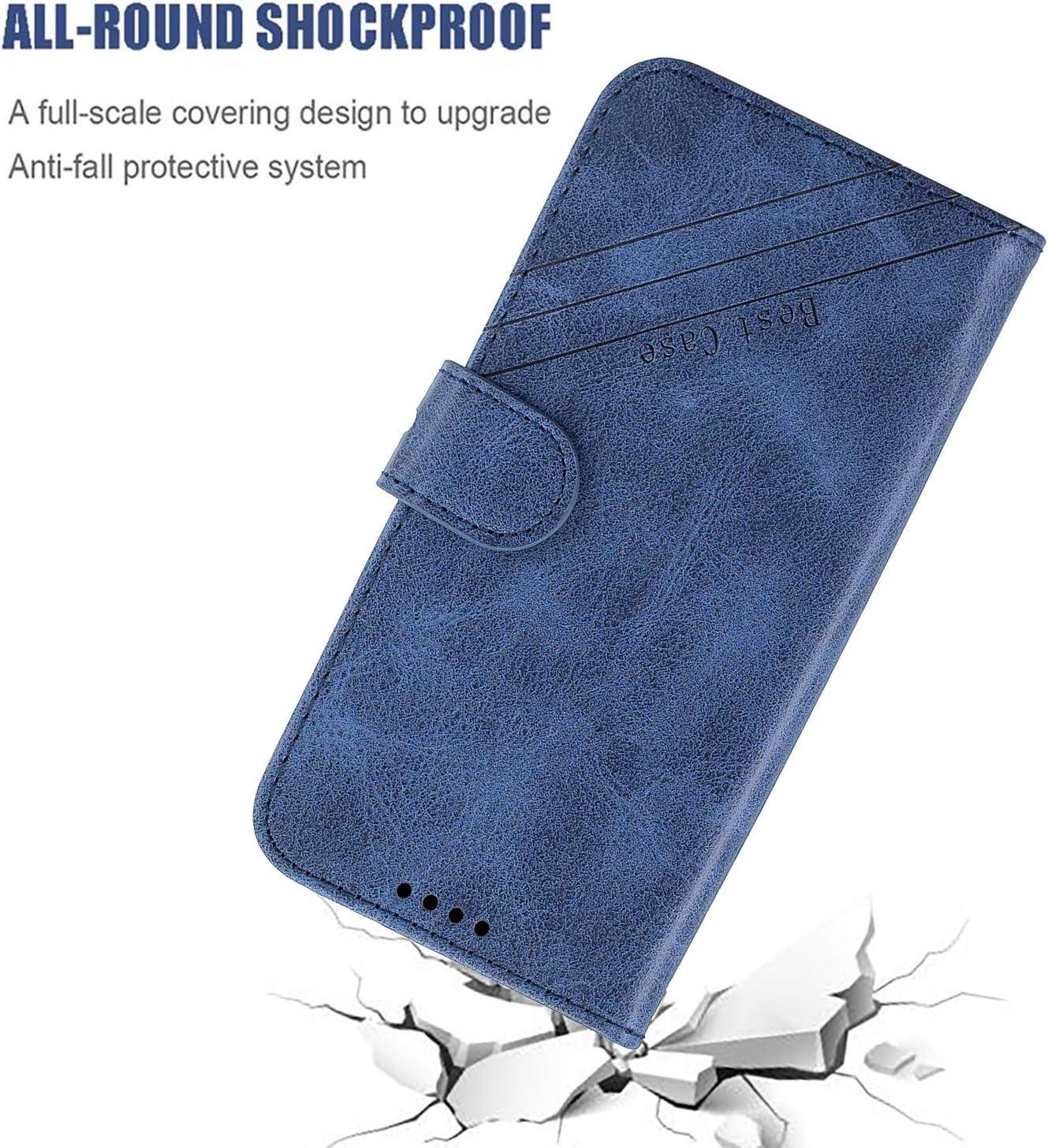 /Étui Housse Portefeuille /à Clapet avec Fonction de Support et Coque Souple pour Samsung Galaxy S10e//G970F NEXCURIO Coque Galaxy S10e Cuir PU NEHEX120248 Bleu
